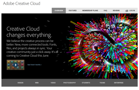 Adobe's new Creative Cloud subscription model for Photoshop and Creative Suite