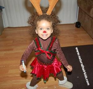 rudolf reindeer costume natural hair