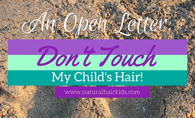 touching a child's natural hair