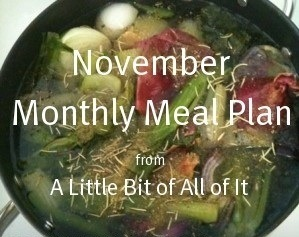 nov monthly meal plan