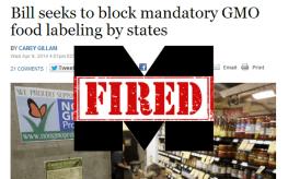 gmo Monsanto fired