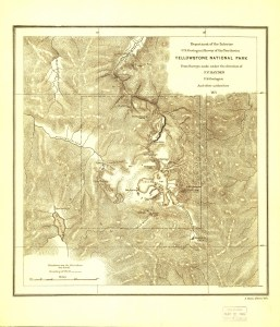 Hayden Expedition Yellowstone Map.