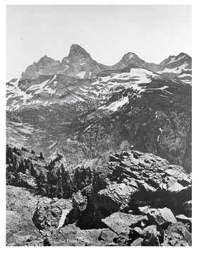The first photography of the Tetons by Henry Jackson in 1872.