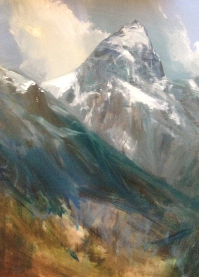 The Grand Teton Peak 80x60cm Oil Painting, unfinished