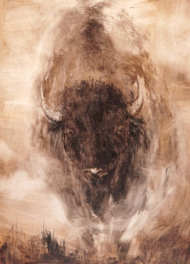 'Walking Buffalo' Oil 120x80cm