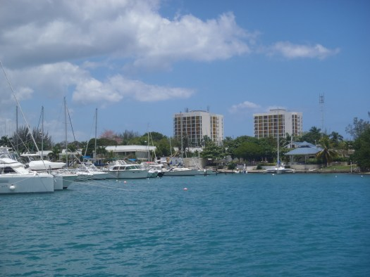 MoBay yacht club from the water