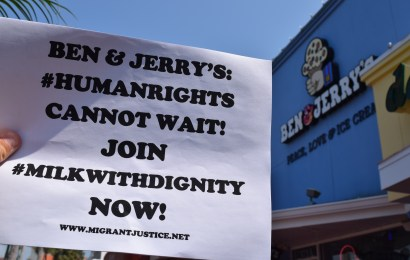 """""""Got Dignity?"""": Students spread awareness of Milk with Dignity Program at local Ben & Jerry's"""