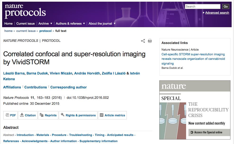 Correlated confocal and super-resolution imaging by VividSTORM cover