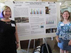 Stacia Watkins and Autumn Marshall of Lipscomb University present poster at SSI 2016