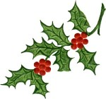 Christmas Holly, image from NanaEllen.com