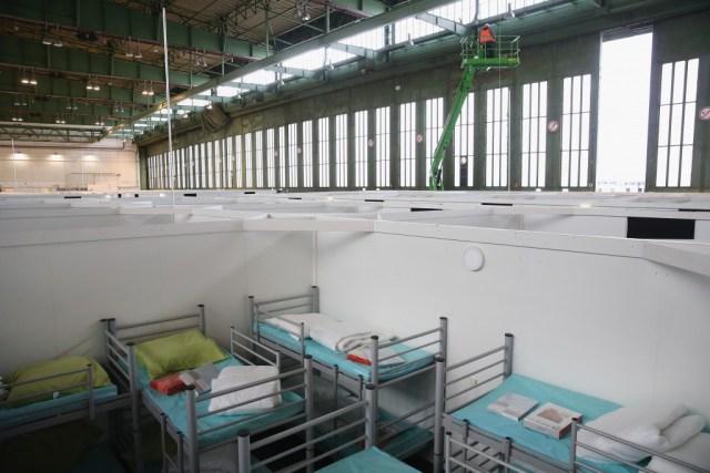 Refugee shelter in Berlin, Germany