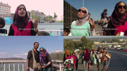 "Video stills from the documentary ""We walk together"""