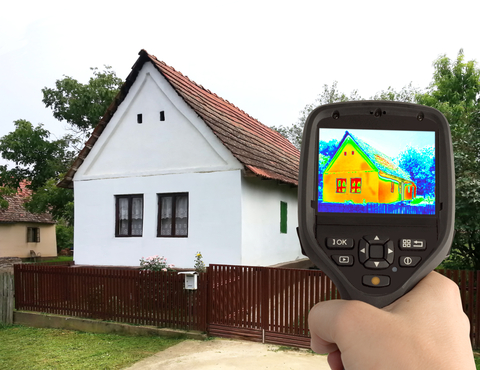 http://www.dreamstime.com/stock-image-thermal-image-old-house-heat-loss-detection-infrared-camera-image32751791