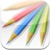 彩えんぴつ 1.8.2 | 色鉛筆にブレンドツールが追加。キャンバス上で色を混ぜてお絵描き可能に