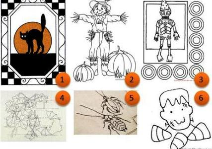 Free embroidery patterns: Halloween
