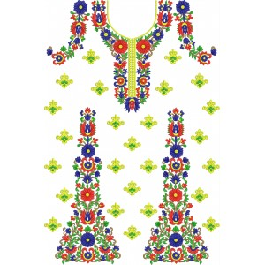 Machine Embroidery – Classic Dress Front