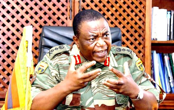 """General Constantine Chiwenga (pictured) was described as a """"political general"""" with """"little practical military experience or expertise"""" by Major-General Fidelis Satuku and Brigadier-General Herbert Chingono."""