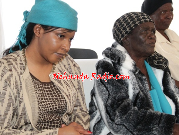 Prime Minister Morgan Tsvangirai's new wife Elizabeth Macheka can be seen with her new mother in law Mbuya Tsvangirai in Buhera