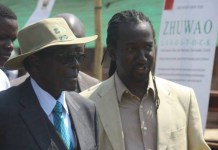 President Mugabe seen here with his nephew Patrick Zhuwao