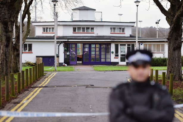 Probe: A police cordon is in place near the scene of the attack