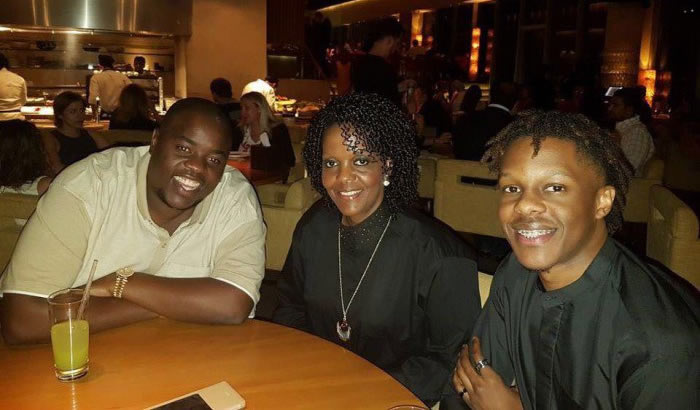Businessman Wicknell Chivayo having dinner with First Lady Grace Mugabe and her son Robert Mugabe Junior in Dubai