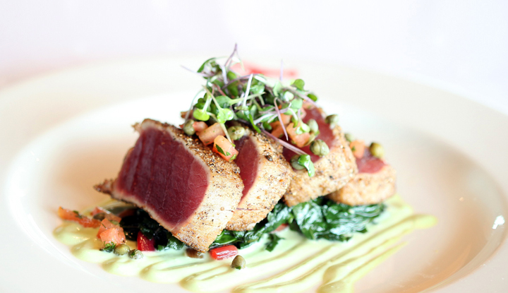 Spicy crust Ahi tuna.