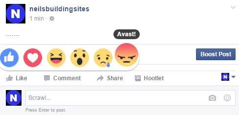 Facebook Avast
