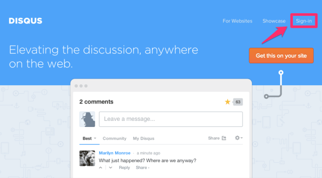 Disqus Elevating the discussion 1 3