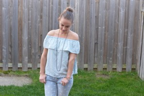 Off the Shoulder Ruffle Top | OOTD