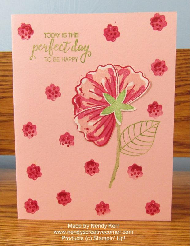 Bunch of Blossoms flower card in Pinks