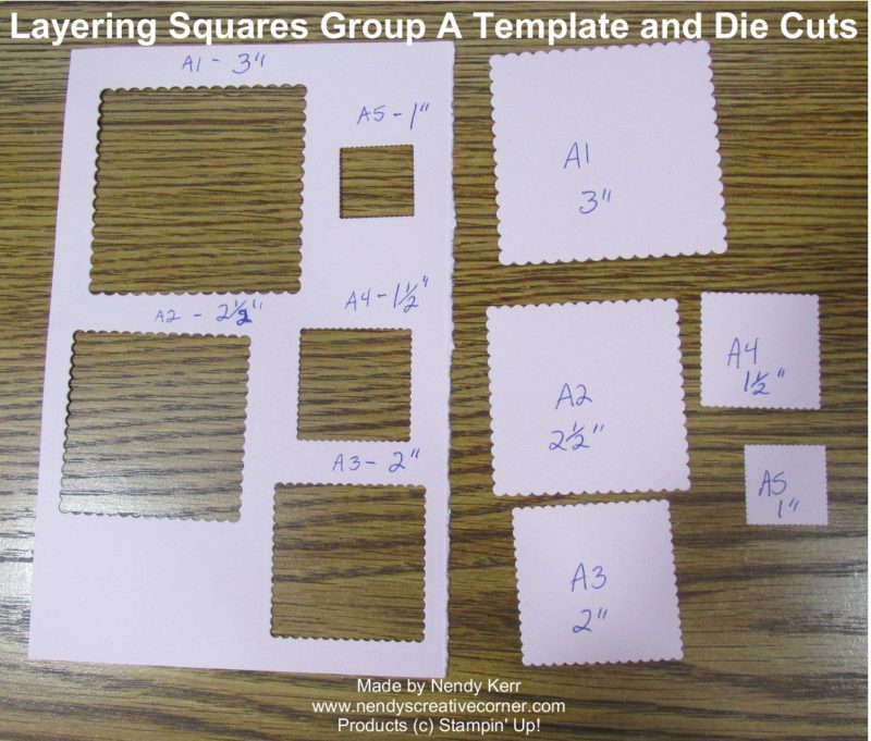 Layering Square Framelits Template A