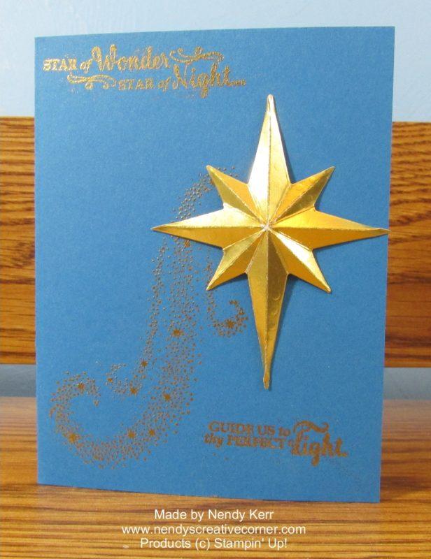 Gold Star of Light Card