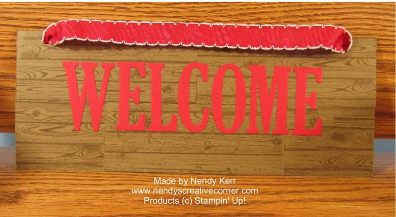 Wood look Welcome Sign