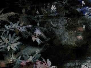 木炭画風の花(2パターン)