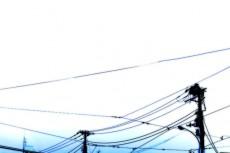 電線の写真素材