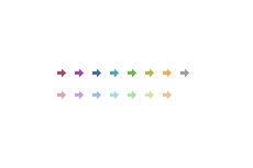 シンプルな矢印(4パターン)