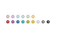丸の中の白い矢印(透過GIF)(4パターン)