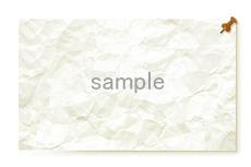 ピンで留められた張り紙のような飾り枠(5パターン)
