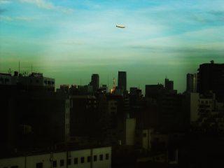 【高解像度】東京タワーと飛行船(3パターン)