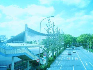 【高解像度】国立代々木競技場のある青い景色