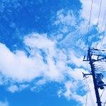 【高解像度】電線と空(3パターン)