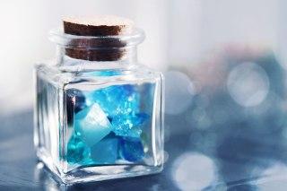 【高解像度】瓶詰めの青い欠片(3パターン)