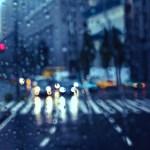 【高解像度】雨に滲む景色(3パターン)