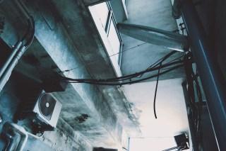 【高解像度】路地裏の街灯(3パターン)