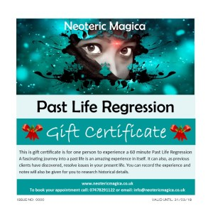 Past Life Regression Gift Certificate