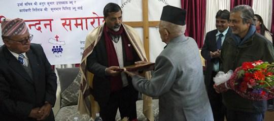 नेपाल ख्रीष्टियन समाजद्वारा उर्जामन्त्री शर्मालाई अभिनन्दन