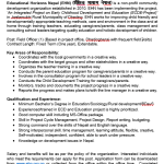 VACANCY ANNOUNCEMENT AT EDUCATION HORIZONS NEPAL