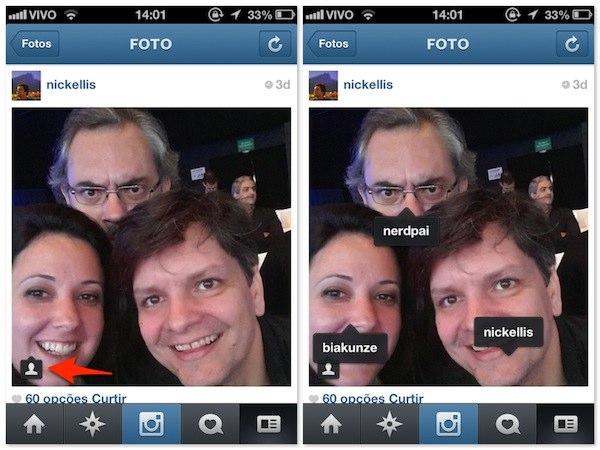 Instagram - Marcação de fotos