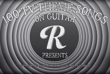 100 temas de abertura de séries e desenhos na guitarra