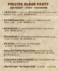 Pirates 2nd Friday Schedule